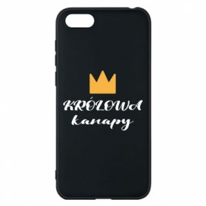 Phone case for Huawei Y5 2018 The queen of the couch - PrintSalon