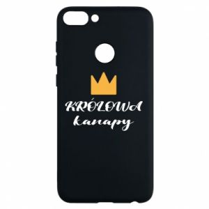 Phone case for Huawei P Smart The queen of the couch - PrintSalon
