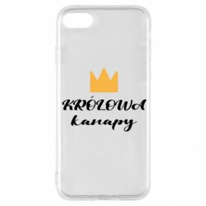 Phone case for iPhone 7 The queen of the couch - PrintSalon