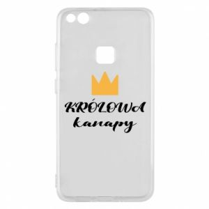 Phone case for Huawei P10 Lite The queen of the couch - PrintSalon