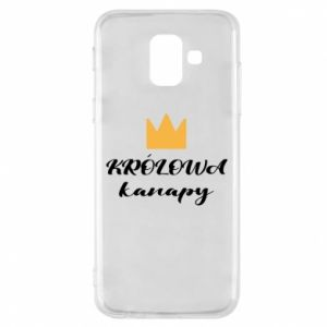 Phone case for Samsung A6 2018 The queen of the couch - PrintSalon
