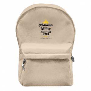 Plecak z przednią kieszenią Królowa MAMA