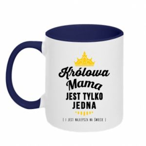 Two-toned mug The Queen mother