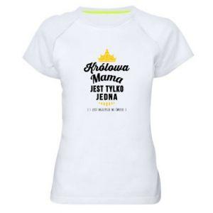 Damska koszulka sportowa Królowa MAMA