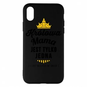 Etui na iPhone X/Xs Królowa MAMA