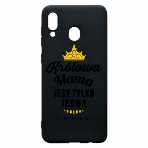 Etui na Samsung A20 Królowa MAMA