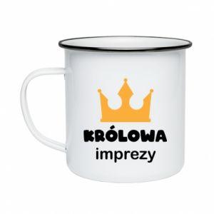 Enameled mug Queen of the party - PrintSalon