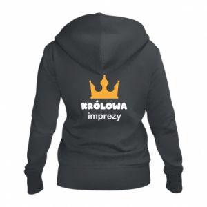 Women's zip up hoodies Queen of the party - PrintSalon