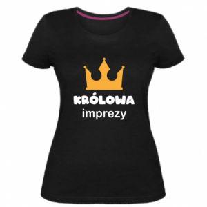 Women's premium t-shirt Queen of the party - PrintSalon