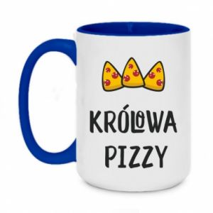 Two-toned mug 450ml Pizza queen