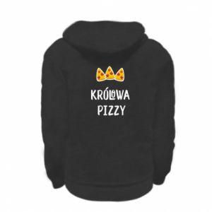 Kid's zipped hoodie % print% Pizza queen