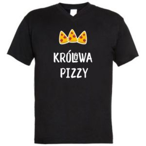 Męska koszulka V-neck Królowa pizzy