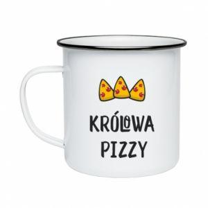 Enameled mug Pizza queen