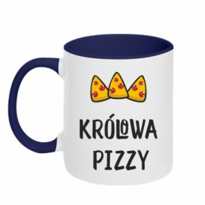 Two-toned mug Pizza queen