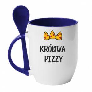 Kubek z ceramiczną łyżeczką Królowa pizzy