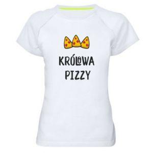 Women's sports t-shirt Pizza queen