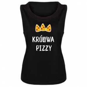 Damska koszulka bez rękawów Królowa pizzy