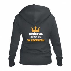 Damska bluza na zamek Królowe rodzą się w czerwcu