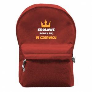 Plecak z przednią kieszenią Królowe rodzą się w czerwcu