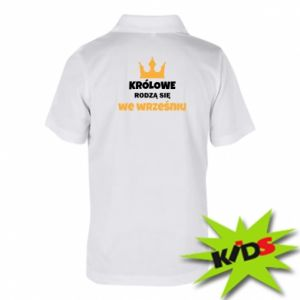 Dziecięca koszulka polo Królowe rodzą się w grudniu