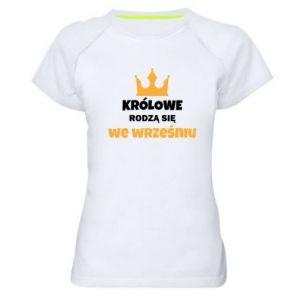 Damska koszulka sportowa Królowe rodzą się w grudniu