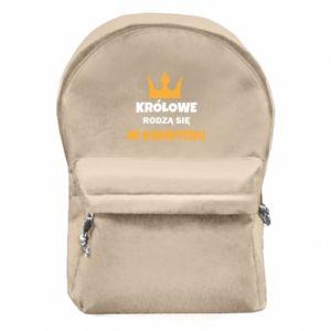 Plecak z przednią kieszenią Królowe rodzą się w kwietniu
