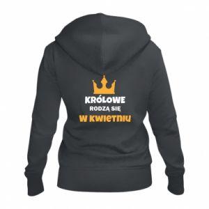 Damska bluza na zamek Królowe rodzą się w kwietniu