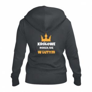 Damska bluza na zamek Królowe rodzą się w lutym