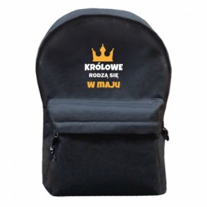 Backpack with front pocket Queens are born in May