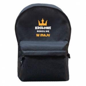 Plecak z przednią kieszenią Królowe rodzą się w maju