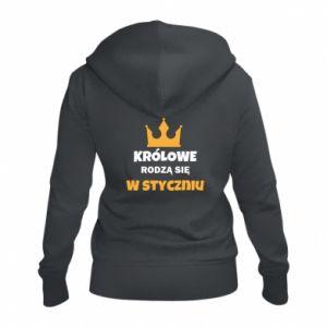 Damska bluza na zamek Królowe rodzą się w styczniu