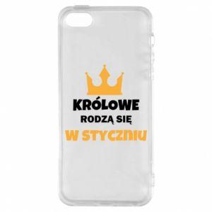 Etui na iPhone 5/5S/SE Królowe rodzą się w styczniu