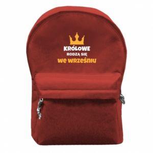 Plecak z przednią kieszenią Królowe rodzą się we wrześniu