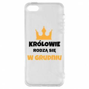 Etui na iPhone 5/5S/SE Królowie rodzą się w grudniu