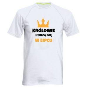 Męska koszulka sportowa Królowie rodzą się w lipcu