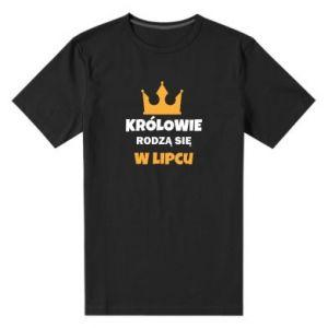 Męska premium koszulka Królowie rodzą się w lipcu