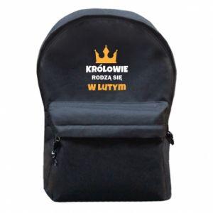 Plecak z przednią kieszenią Królowie rodzą się w lutym