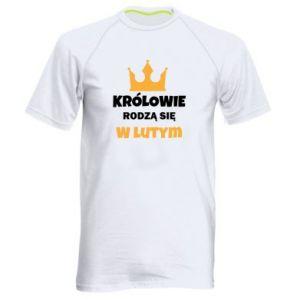 Męska koszulka sportowa Królowie rodzą się w lutym