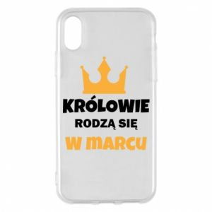 Phone case for iPhone X/Xs Kings are born in March