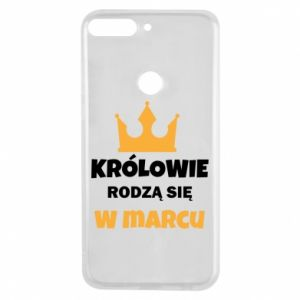 Phone case for Huawei Y7 Prime 2018 Kings are born in March