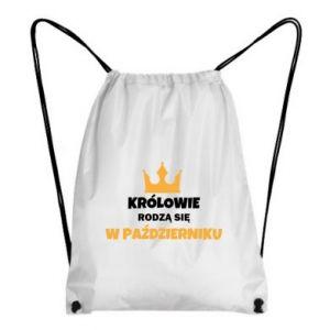 Plecak-worek Królowie rodzą się w październiku