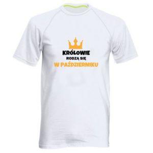 Męska koszulka sportowa Królowie rodzą się w październiku