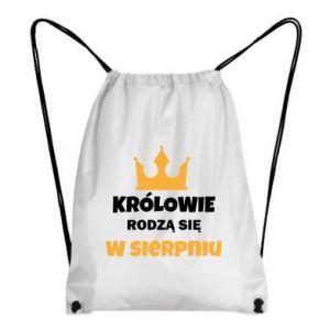 Plecak-worek Królowie rodzą się w sierpniu