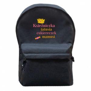 Plecak z przednią kieszenią Księżniczka tatusia cukiereczek mamusi