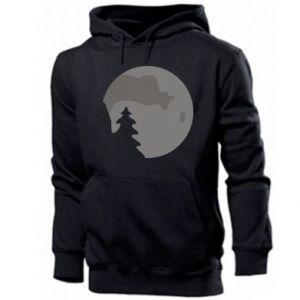 Bluza z kapturem męska Księżyc