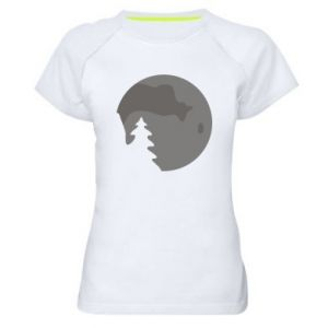 Women's sports t-shirt Moon