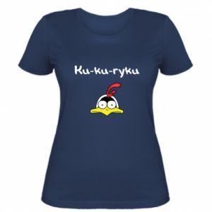 Damska koszulka Ku-ku-ryku - PrintSalon