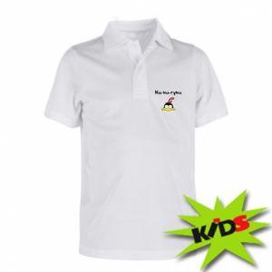 Dziecięca koszulka polo Ku-ku-ryku - PrintSalon