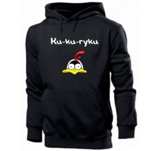 Męska bluza z kapturem Ku-ku-ryku - PrintSalon