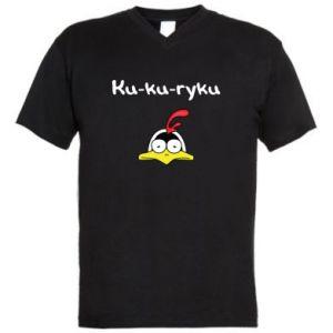 Męska koszulka V-neck Ku-ku-ryku - PrintSalon